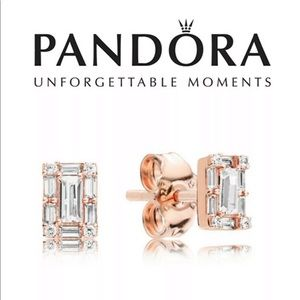 287567cz Pandora Rose Luminous Ice Earrings